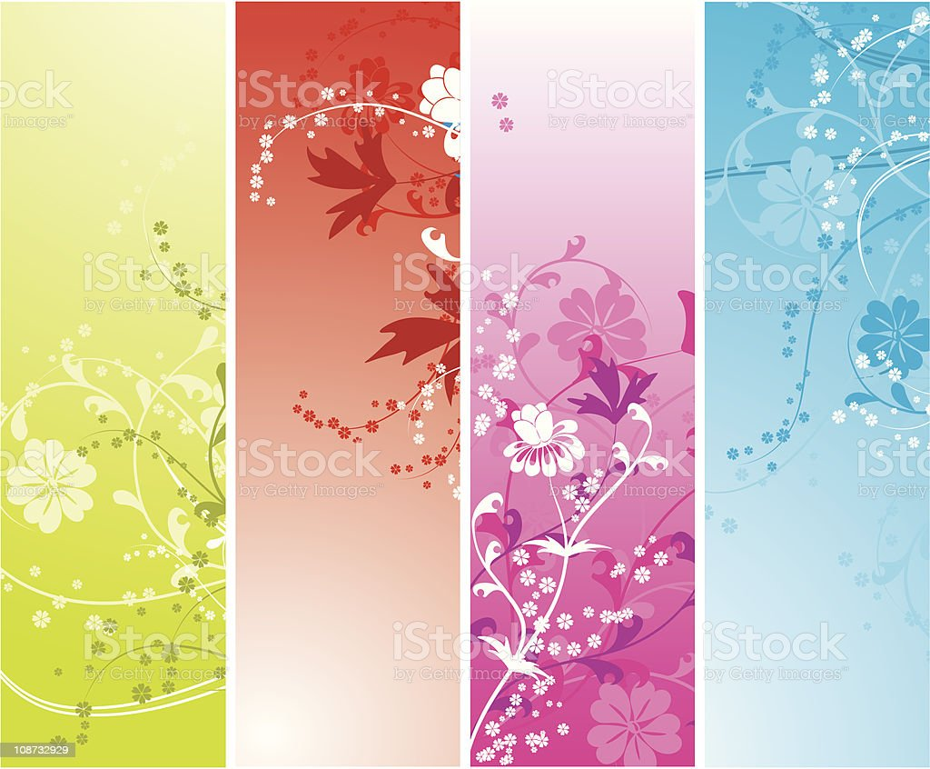 Floral abstract background vector art illustration