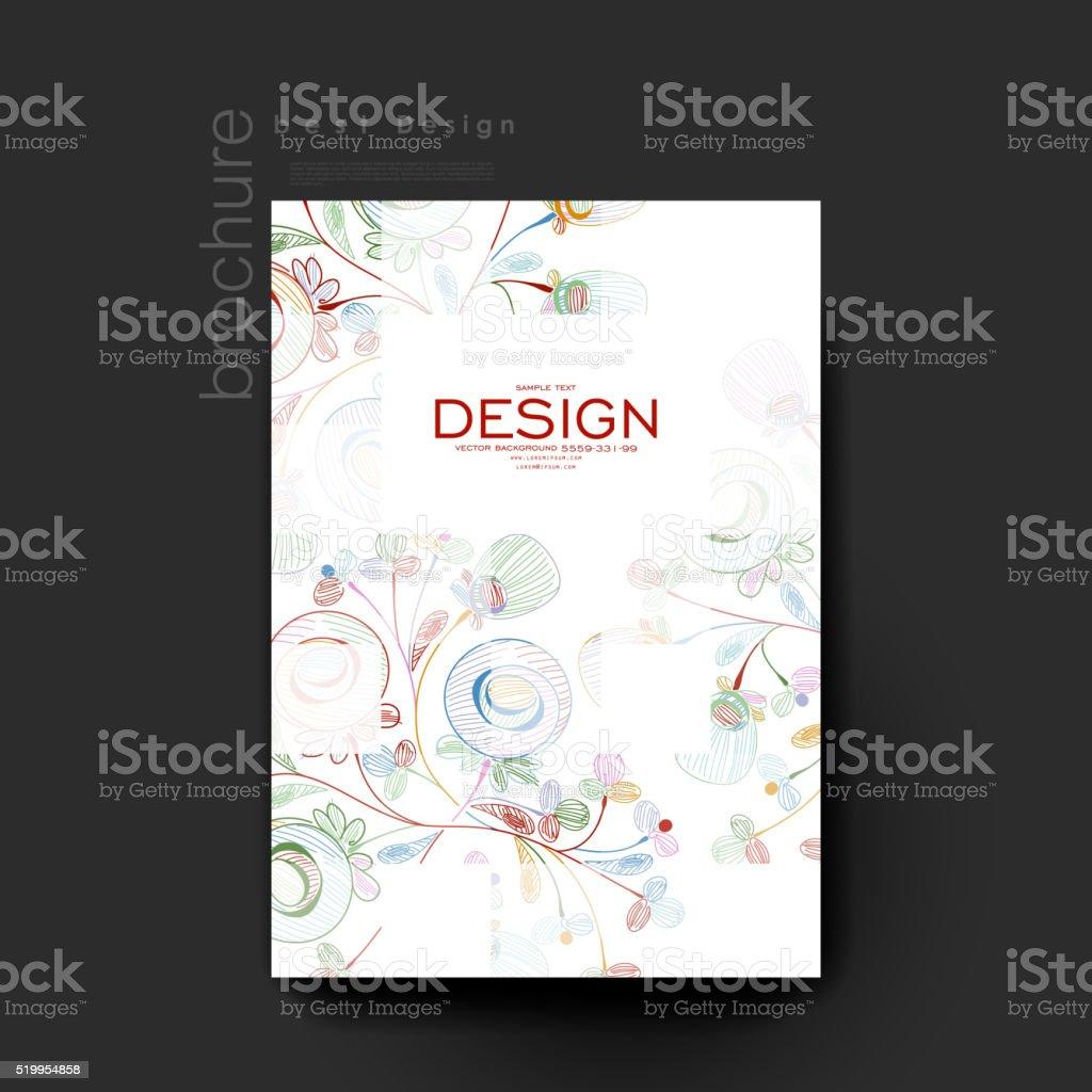 Abstracto Floral Vector Folleto Plantilla Diseño De Flyer ...