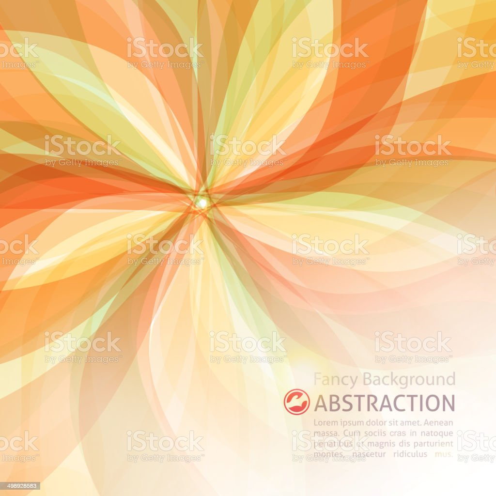 floral abstract vector art illustration