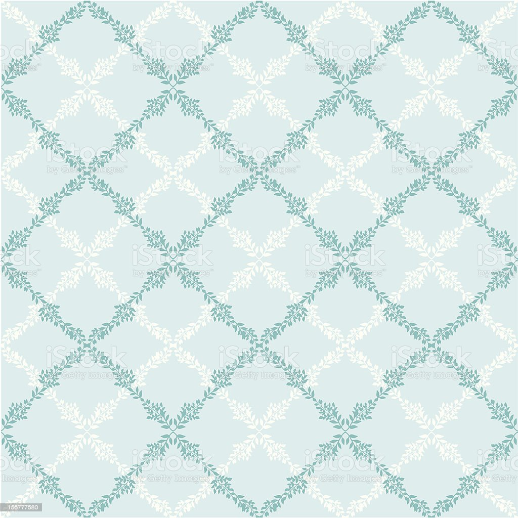 Floral Argyle Seamless Pattern Background royalty-free stock vector art