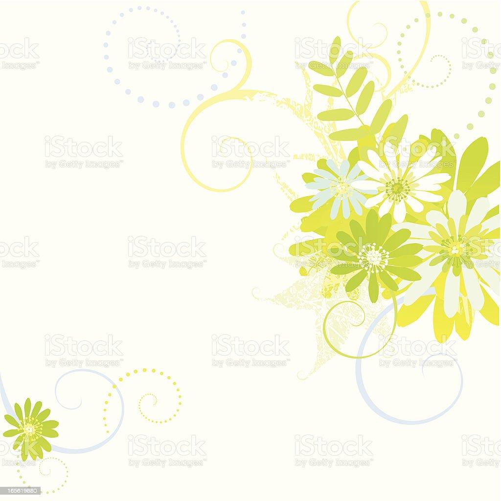 Floral Arrangment-Design elements royalty-free stock vector art