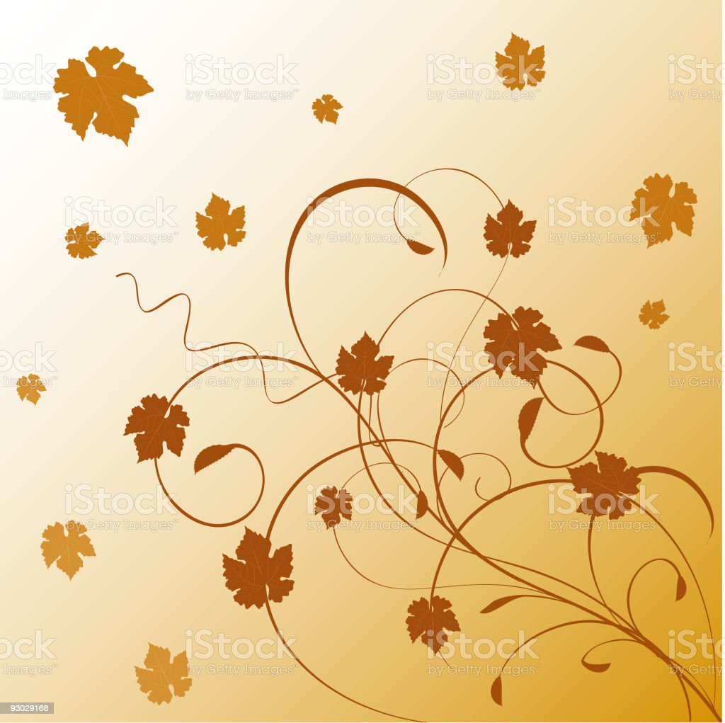 Floral autumn background royalty-free stock vector art