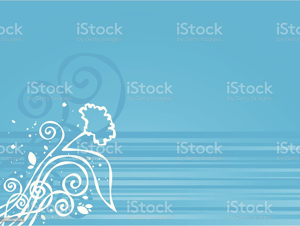 Floral background design (Vector) royalty-free stock vector art