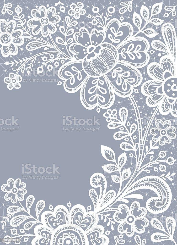 Floral Background Lace. vector art illustration
