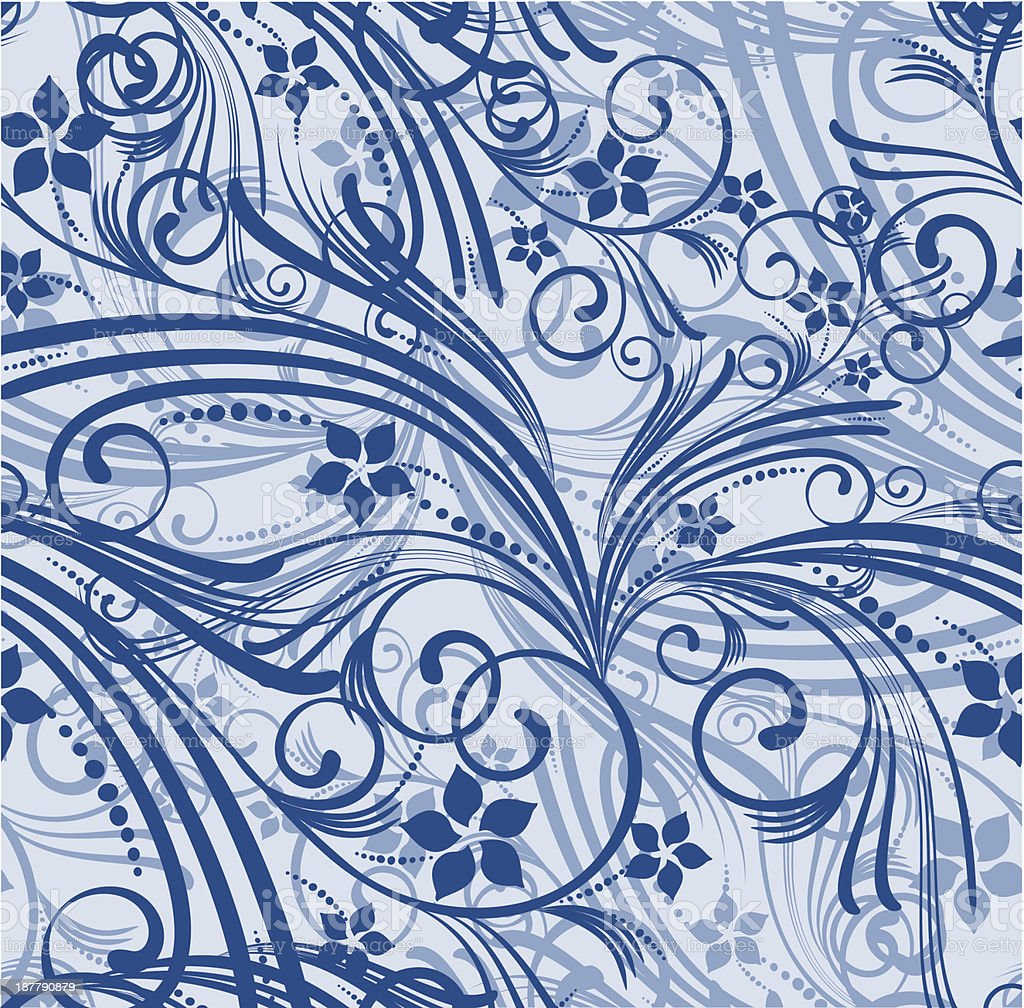 floral background vector art illustration