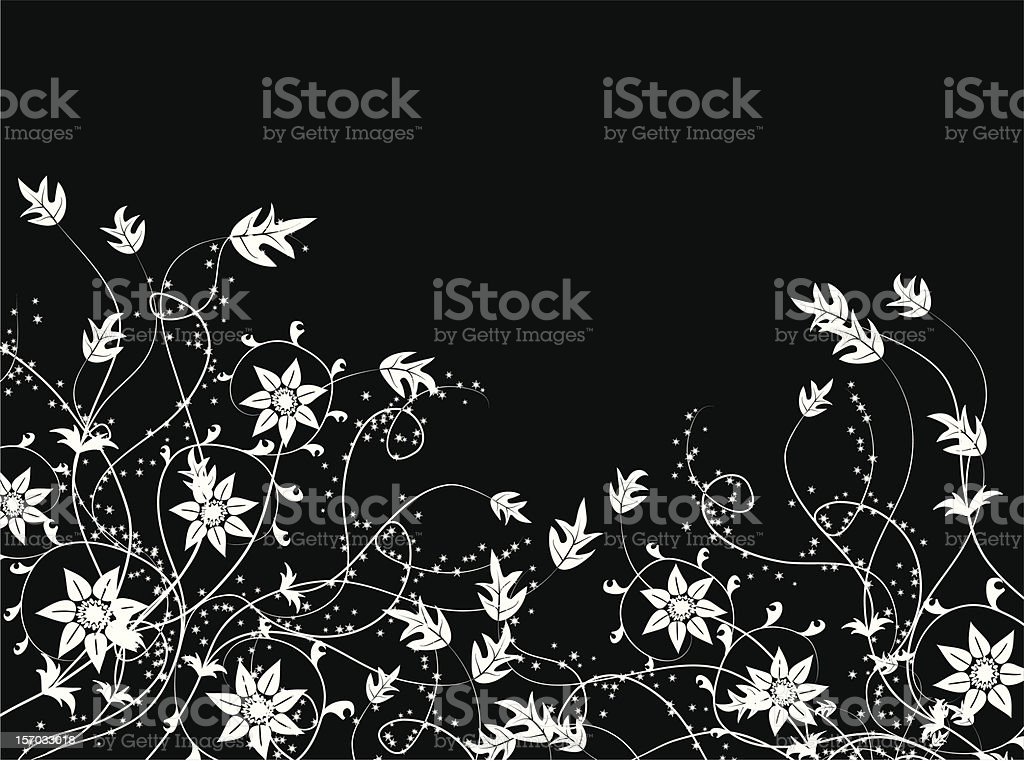 Floral background, vector vector art illustration
