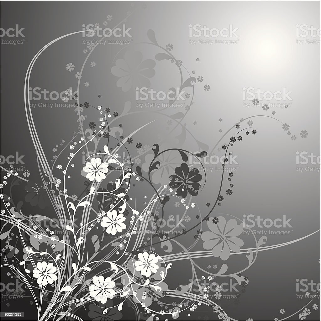 Floral background, vector royalty-free stock vector art