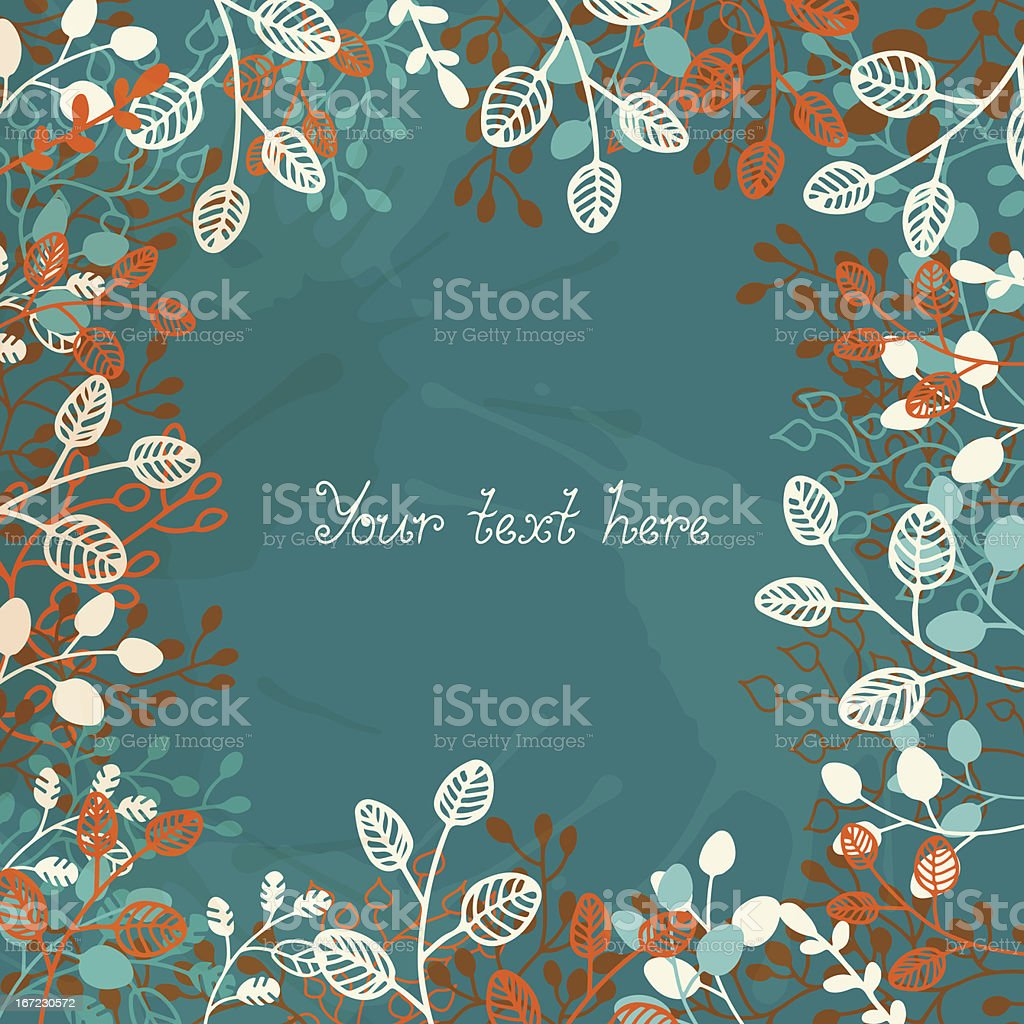 Floral background with a space for text royalty-free stock vector art