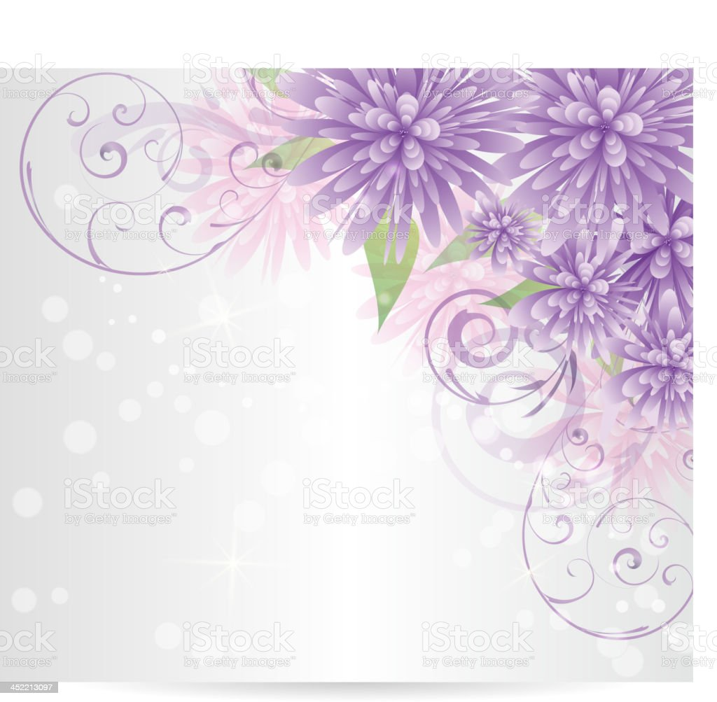 Floral background with abstract flowers royalty-free stock vector art