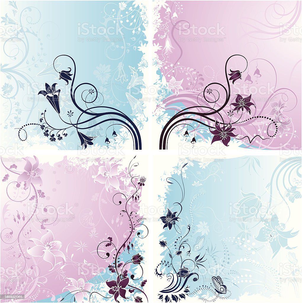 Floral Backgrounds royalty-free stock vector art