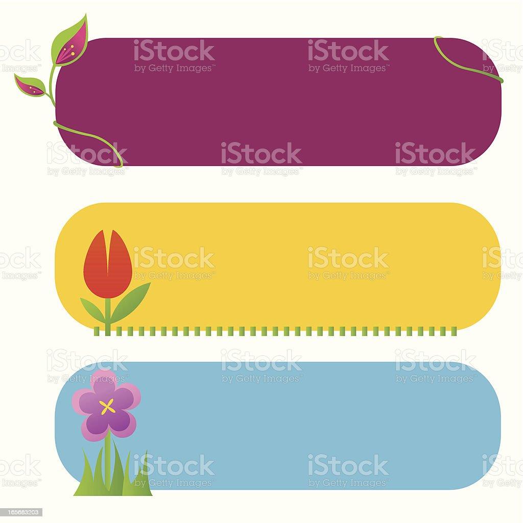 Floral banner vector art illustration