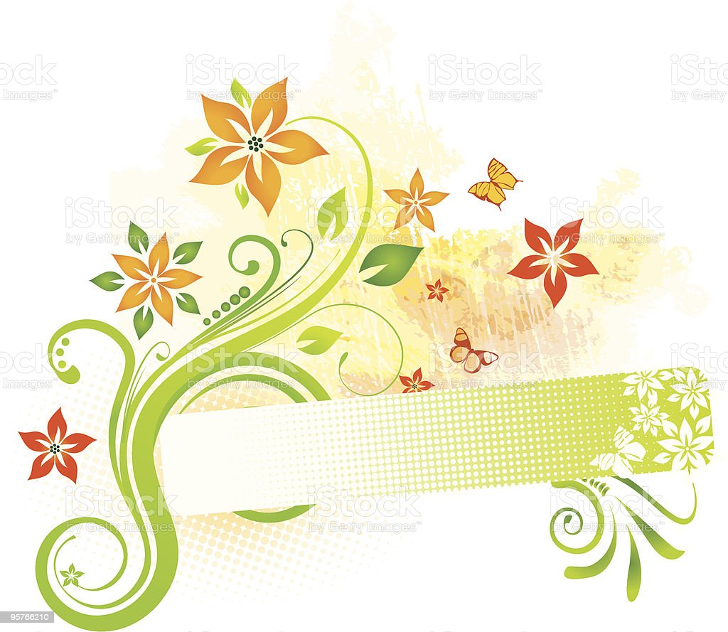 Floral banner royalty-free stock vector art