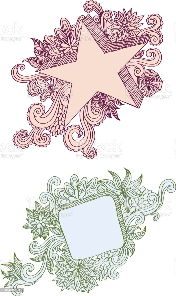 Floral banners vector art illustration