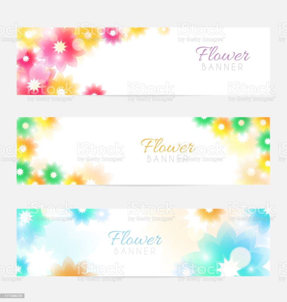 Floral banners royalty-free stock vector art