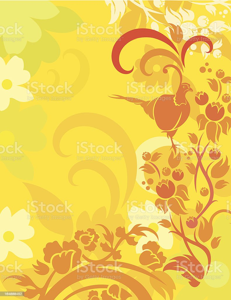Floral Bird Background Series royalty-free stock vector art