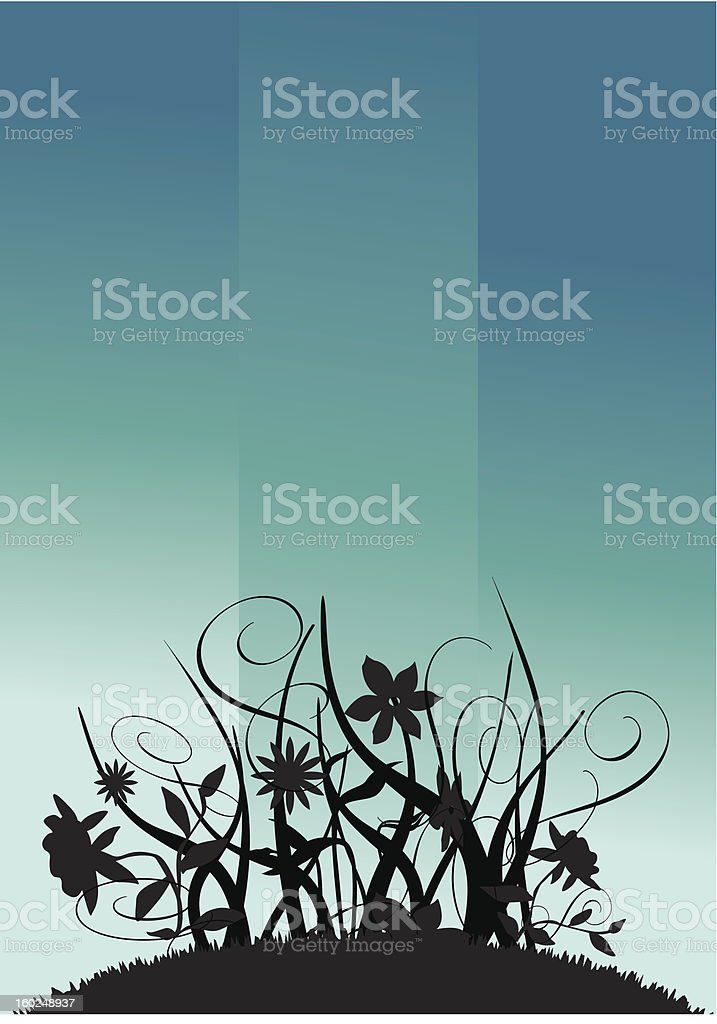 floral blues royalty-free stock vector art