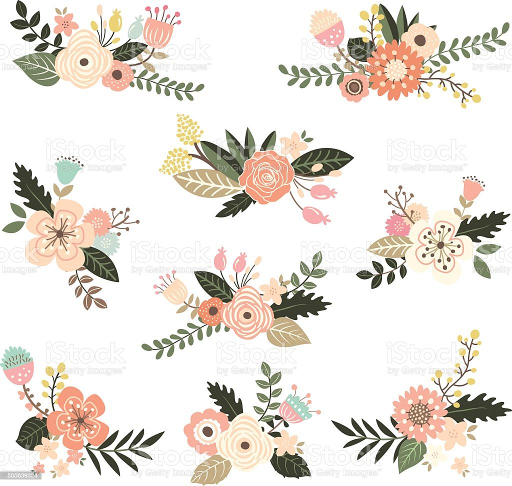 Floral Bouquet Collection - Illustration vector art illustration