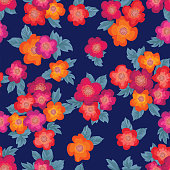 Floral bouquet seamless pattern. Ornamental texture with flowers roses.