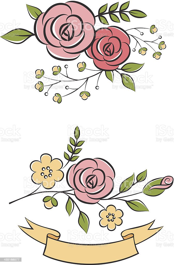 Floral bouquets royalty-free stock vector art