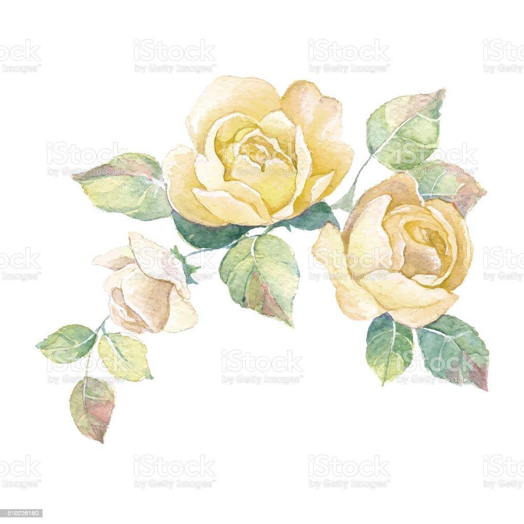 Floral branch 2. Vector vector art illustration