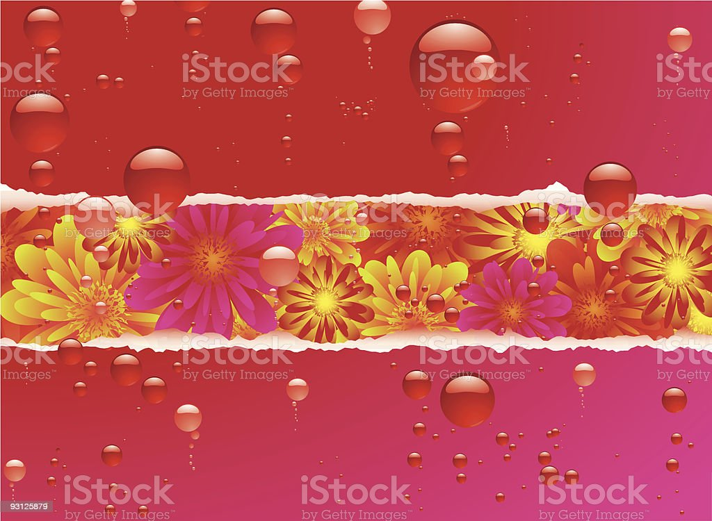 floral bubble royalty-free stock vector art