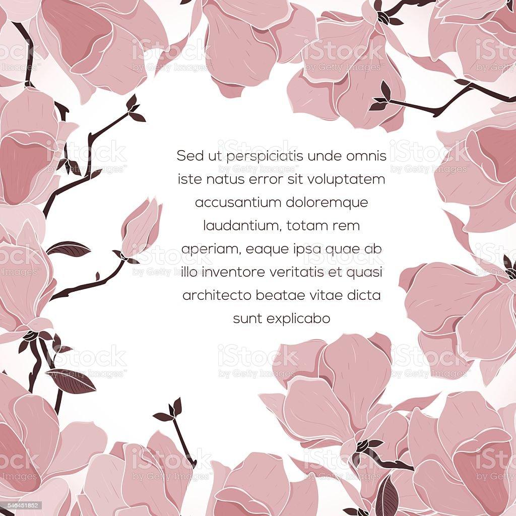 Floral card invitation vector art illustration