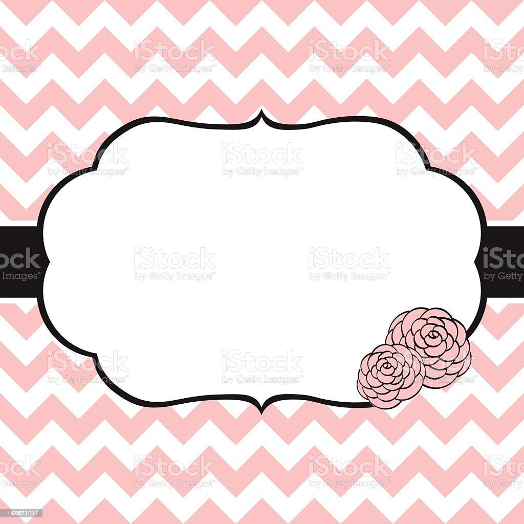 Floral card template vector art illustration