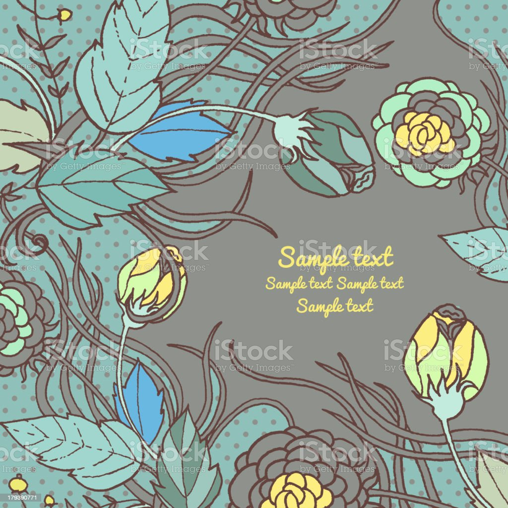 Floral card royalty-free stock vector art