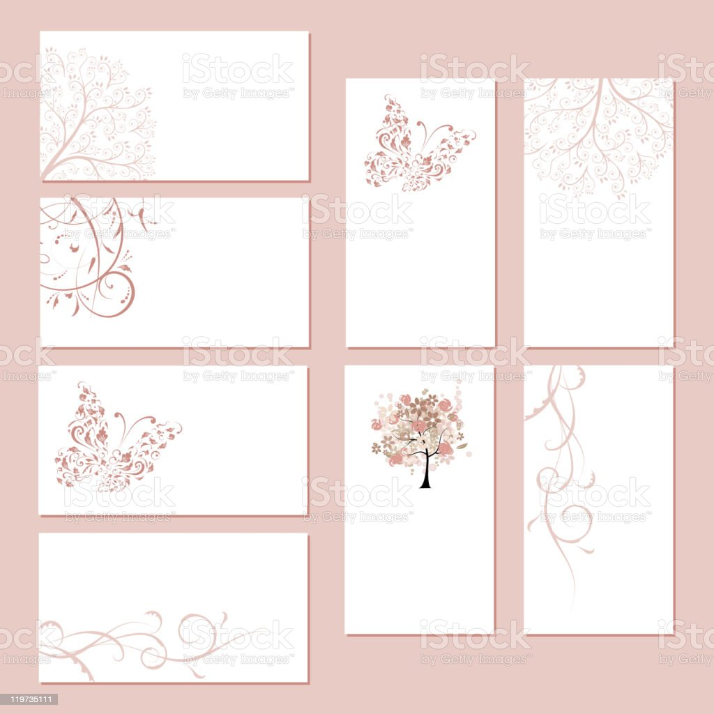 Floral cards with place for your text royalty-free stock vector art