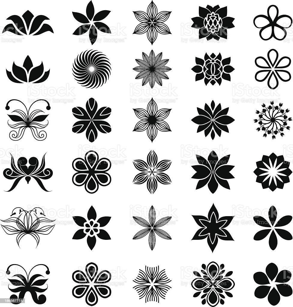 Floral collection vector art illustration