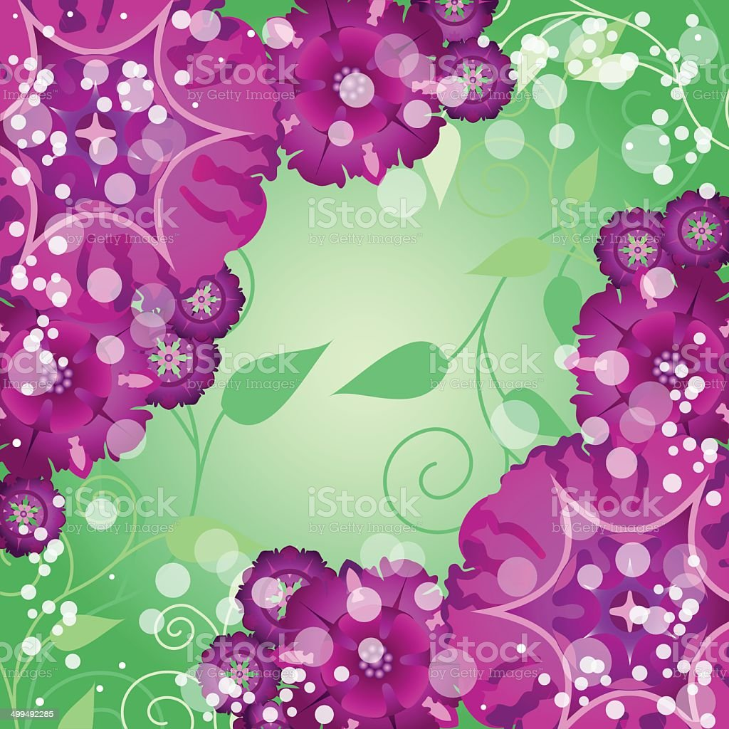 floral creative decorative abstract background with butterfly vector art illustration