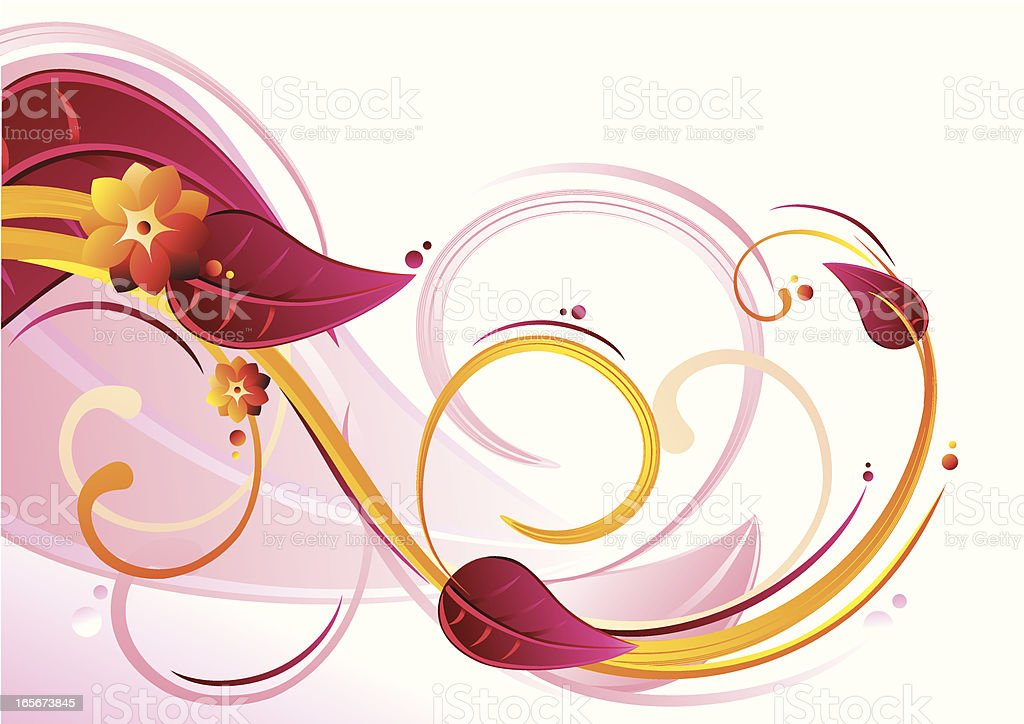 Floral Curl royalty-free stock vector art