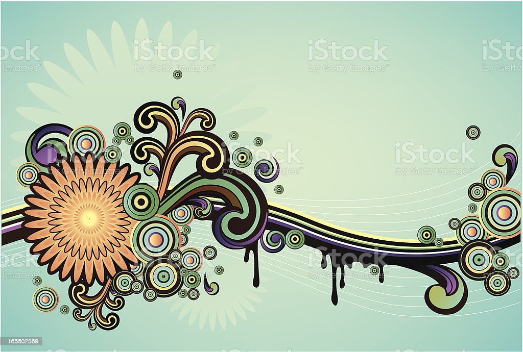 floral curly background royalty-free stock vector art