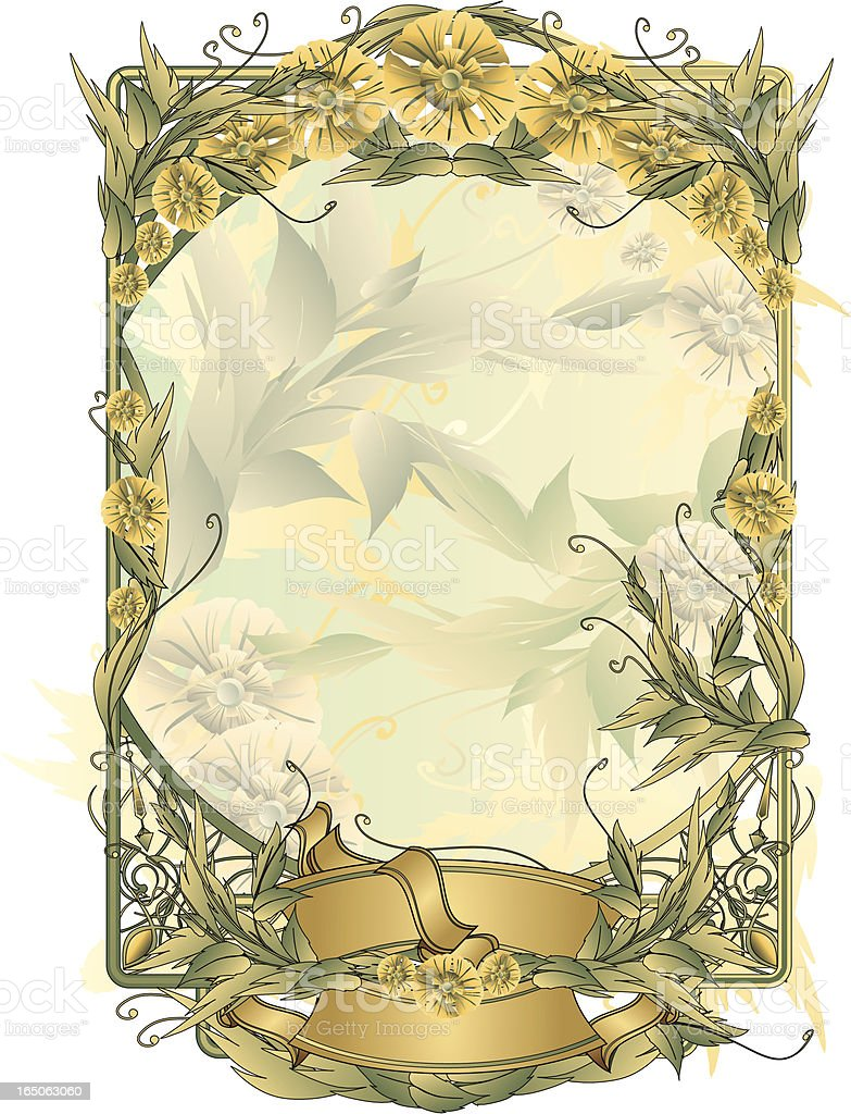 Floral deco frame royalty-free stock vector art