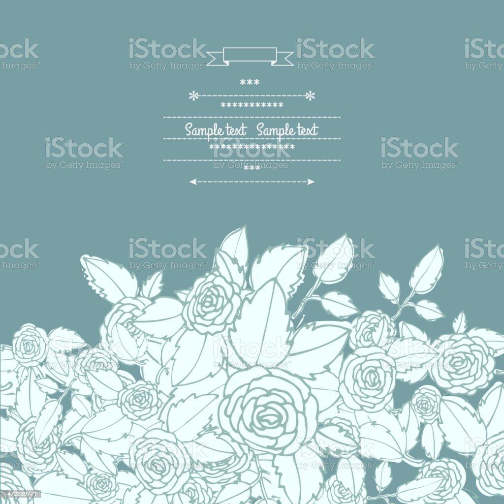 Floral decor royalty-free stock vector art