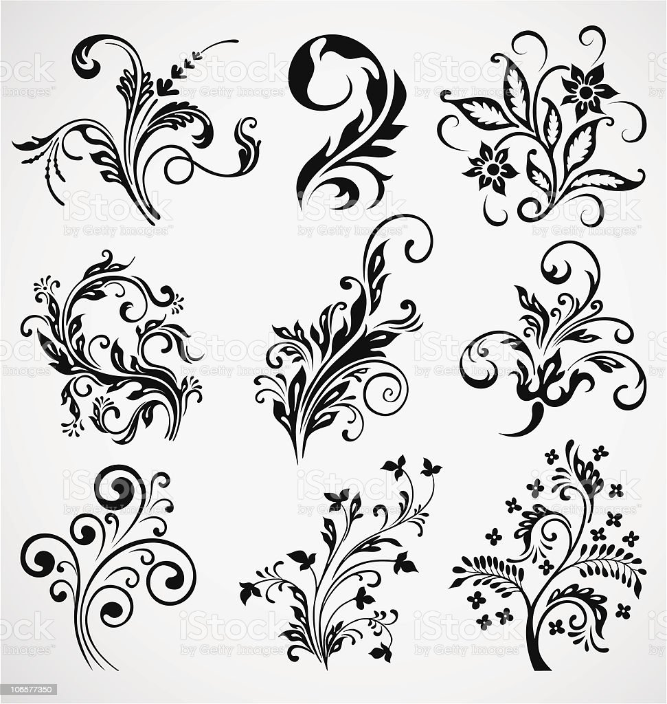 Floral Decoration floral decoration elements vintage vector ornament stock vector
