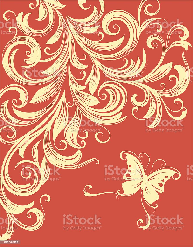 floral decoration royalty-free stock vector art