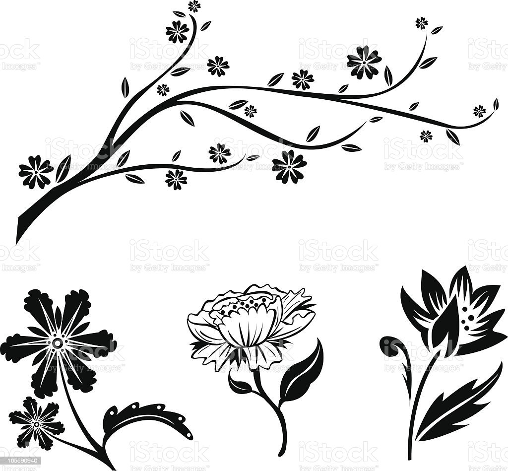 Floral Decorations royalty-free stock vector art