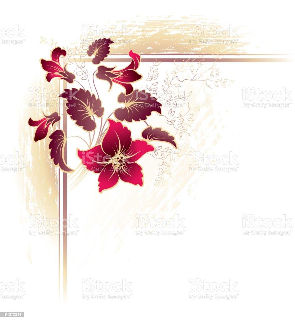 Floral decorative design elements royalty-free stock vector art
