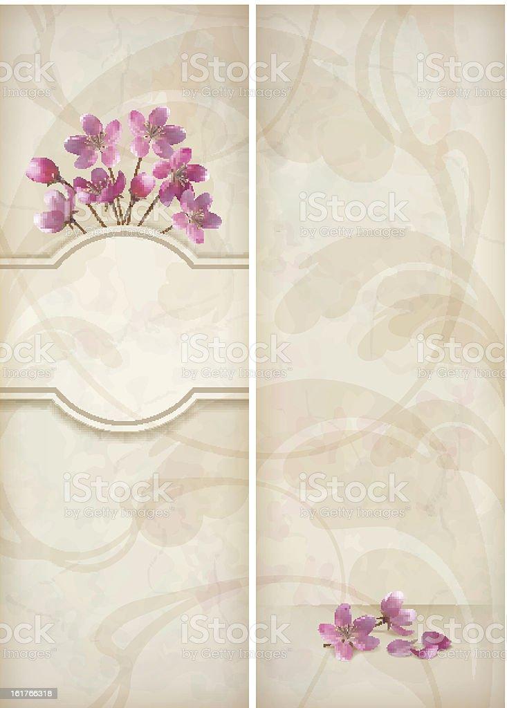 Floral decorative wedding menu template design royalty-free stock vector art