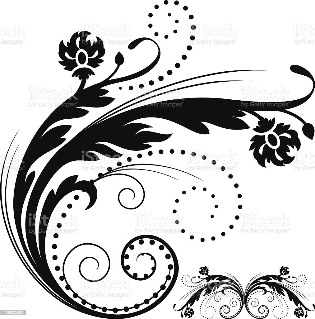 Floral design element royalty-free stock vector art
