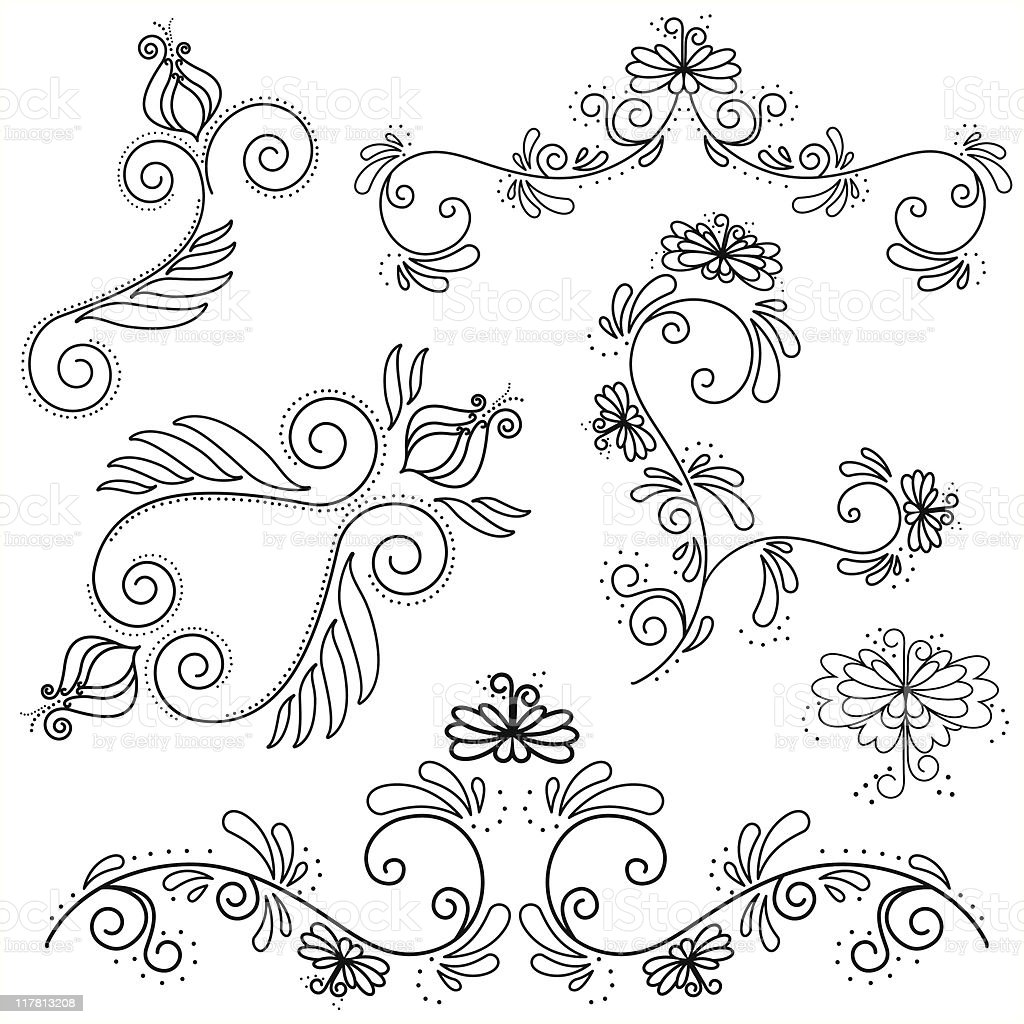 Floral Design Elements (vector) royalty-free stock vector art