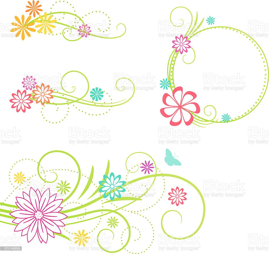 Floral design elements. Vector illustration. royalty-free stock vector art