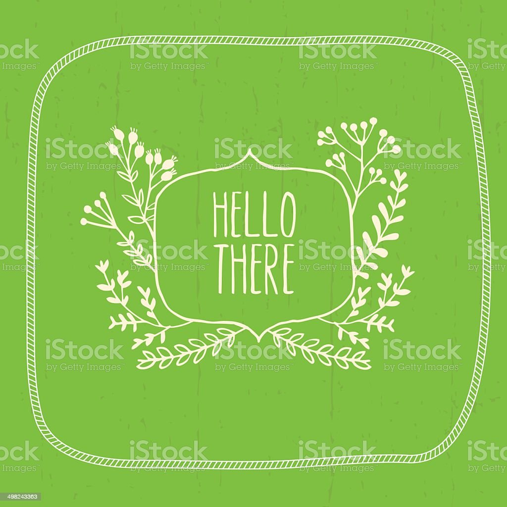Floral design elemets. Vector flowers and frame royalty-free stock vector art