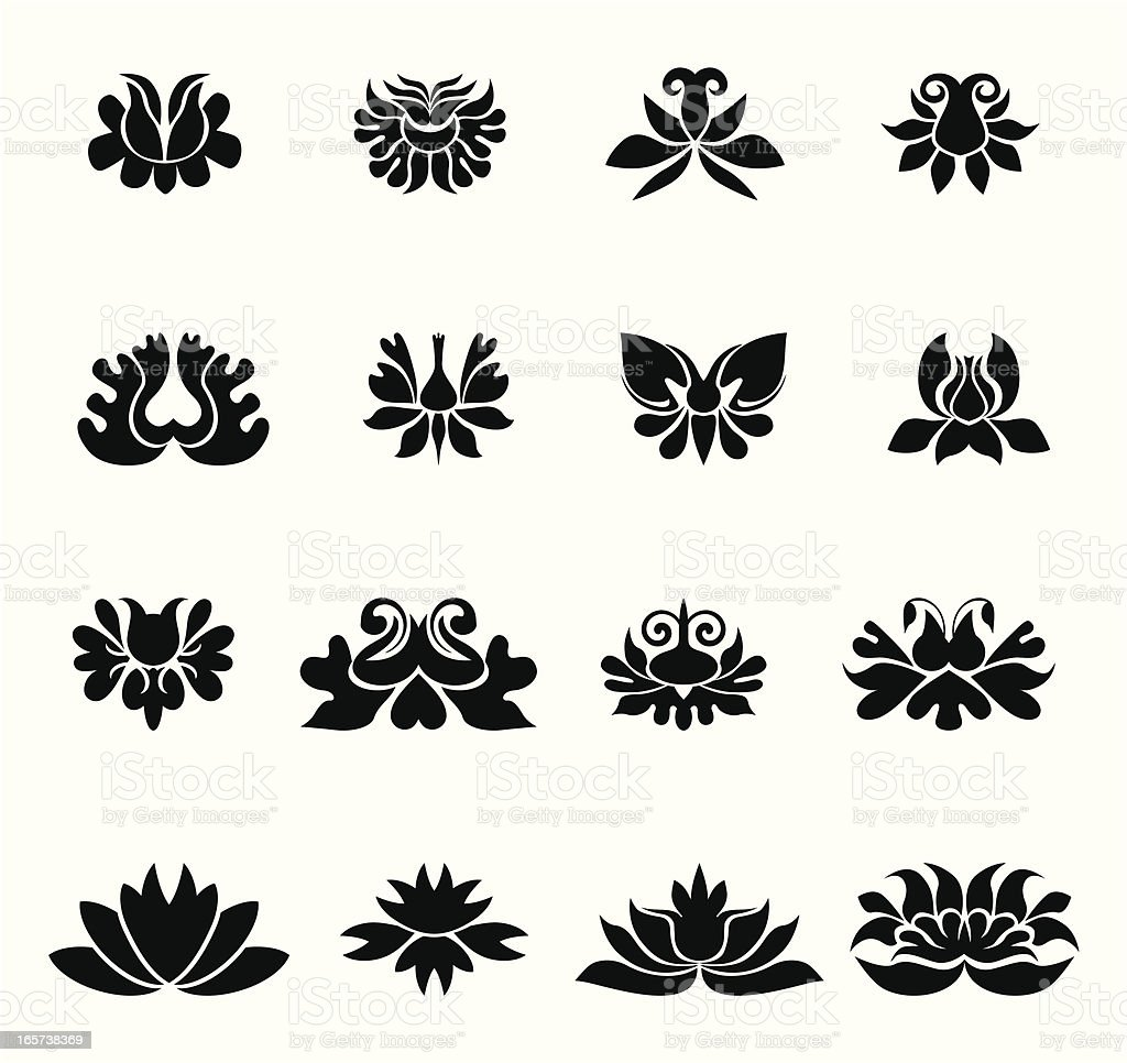 Floral design II royalty-free stock vector art