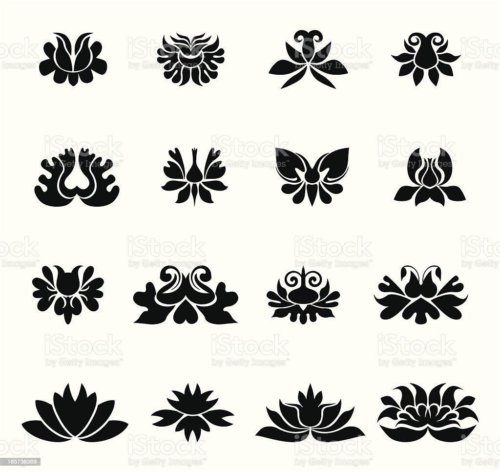 Floral design II vector art illustration