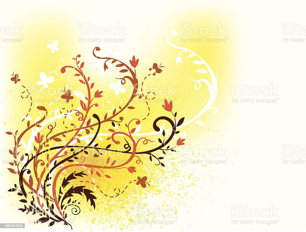 Floral design of spring royalty-free stock vector art