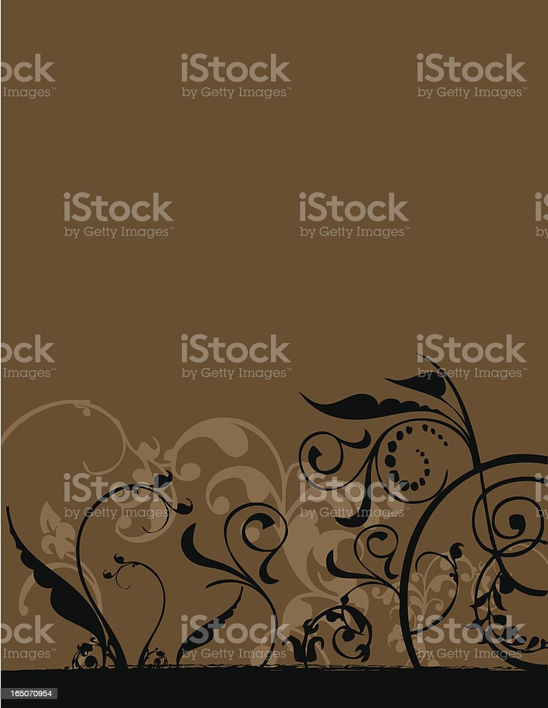 Floral design royalty-free stock vector art