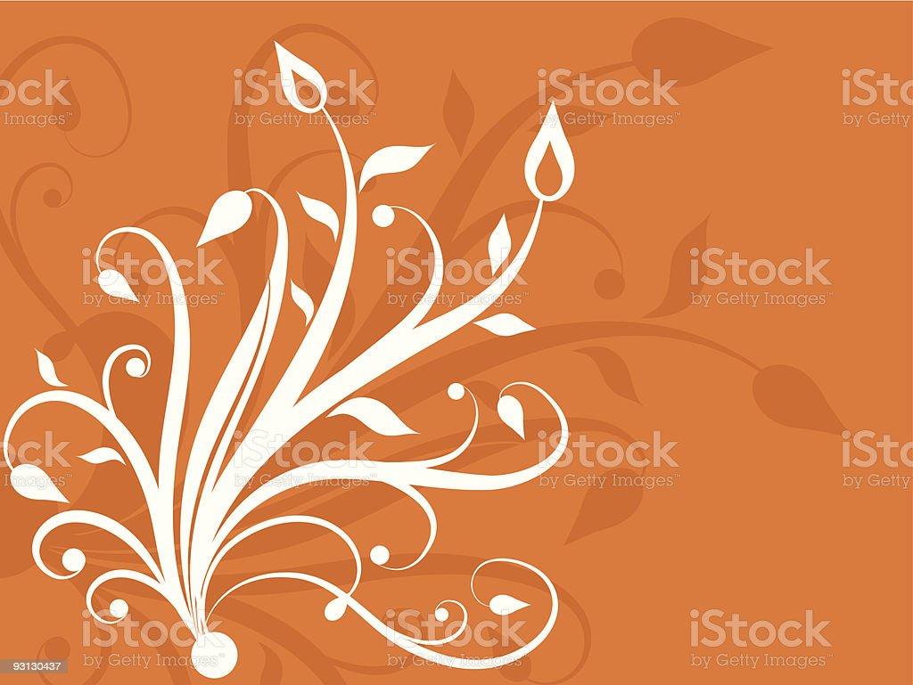 Floral design - vector royalty-free stock vector art