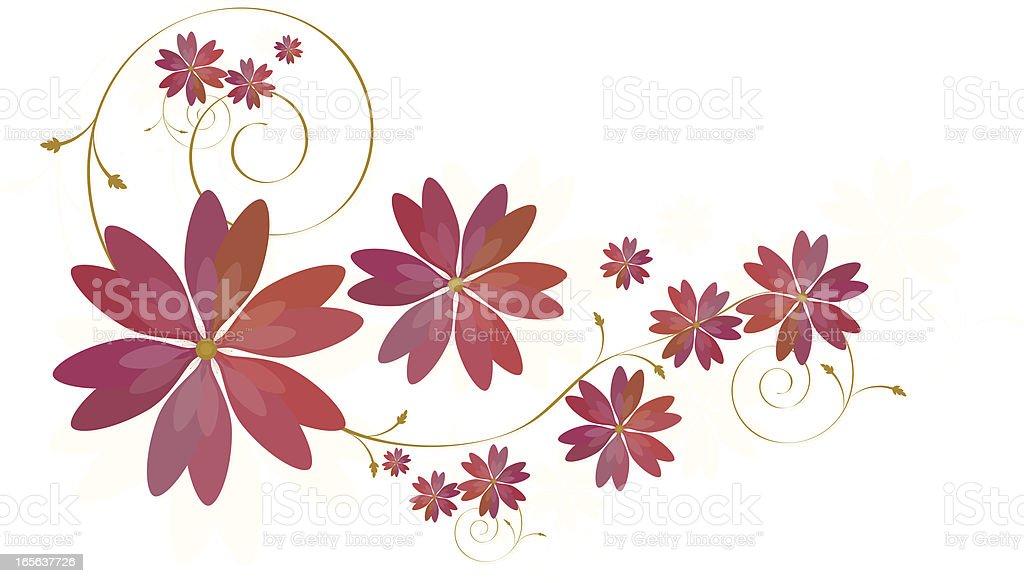 Florales Design mit Platz für Text Lizenzfreies vektor illustration